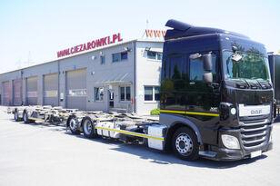 грузовик шасси DAF XF 460 SC , E6 , 6X2 , BDF + Wecon 2 axles trailer , BDF SET + прицеп шасси
