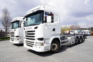 грузовик шасси SCANIA R490 , E6 , 8X2/4 , Tridem , chassis 9m , 2x lift axle , retarde