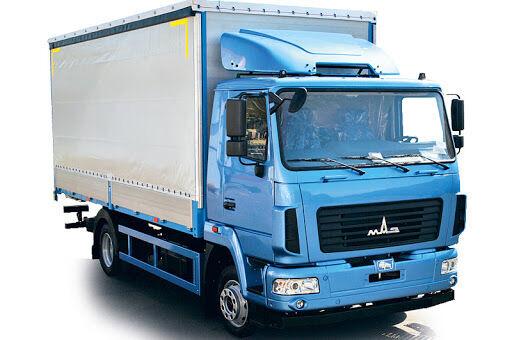 новый тентованный грузовик МАЗ 4371C0