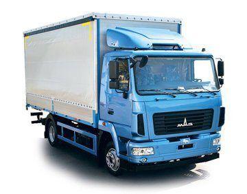 новый тентованный грузовик МАЗ 4381N2