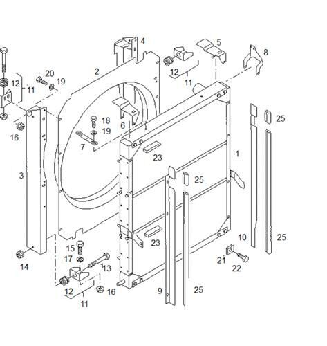 радиатор охлаждения двигателя MAN NM 223/283 F (81061016485) для автобуса MAN